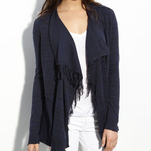 Free People take a bow navy cardigan. Small